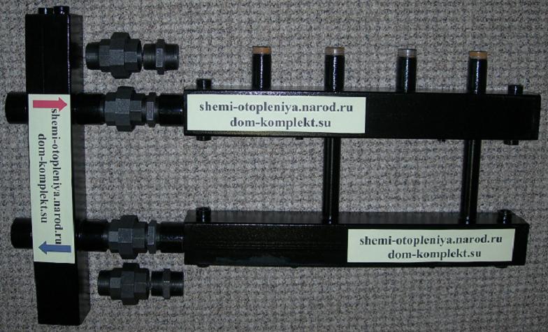Коллектор отопления с гидрострелкой