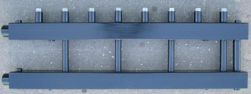 Коллектор отопления распределительный для монтажа котельной на 4 контура с перемычкой