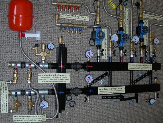 Отопление частного дома 2 этажа своими руками