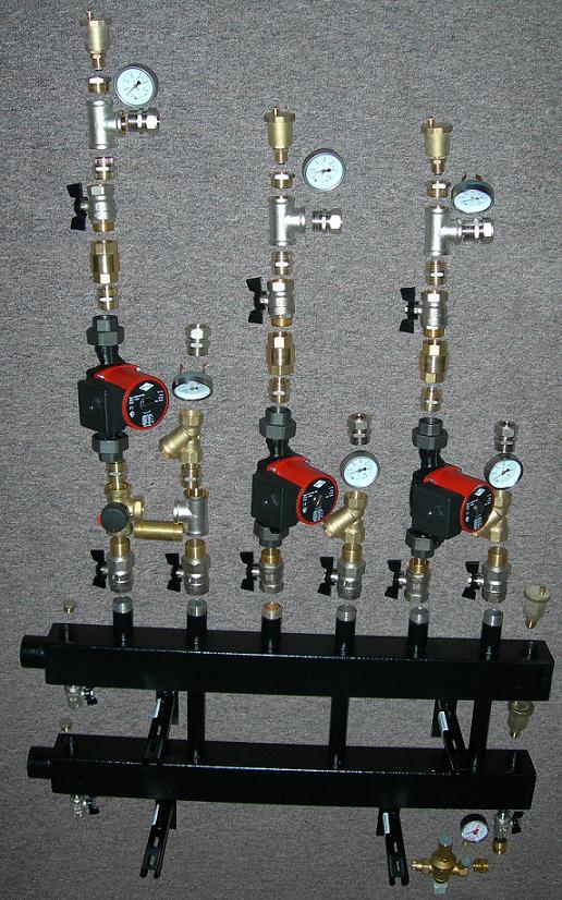 Схема отопления дома обвязка